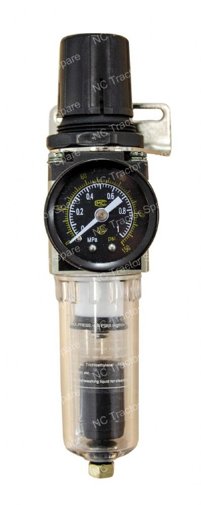 "1/4"" Outlet Filter Regulator c/w Gauge"